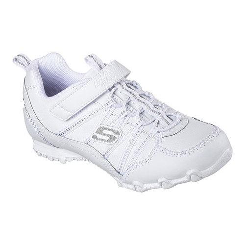 c6100e5dffb Shop Girls  Skechers Bikers II Rally Time Sneaker White - Free ...