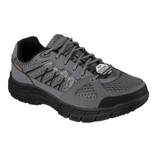 Men's Skechers Work Relaxed Fit Conroe Dierks ESD Work Sneaker Gray/Black