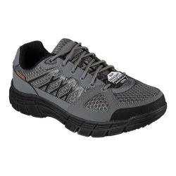 Men's Skechers Work Relaxed Fit Conroe Dierks ESD Work Sneaker Gray/Black