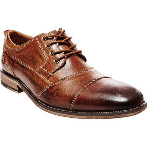 c51e62cf9d8 Men's Steve Madden Jessup Cap Toe Oxford Dark Tan Leather