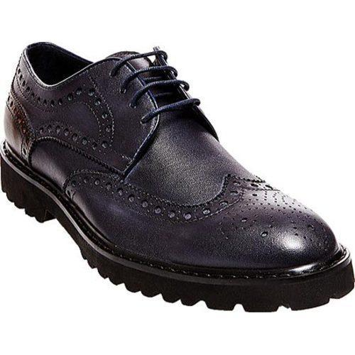 de95fa92a69 Men's Steve Madden Marlen Brogue Navy Leather/Manmade
