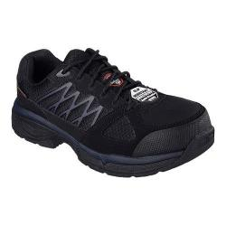 Men's Skechers Work Relaxed Fit Conroe Searcy ESD Work Sneaker Black