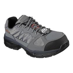 Men's Skechers Work Relaxed Fit Conroe Searcy ESD Work Sneaker Gray/Black