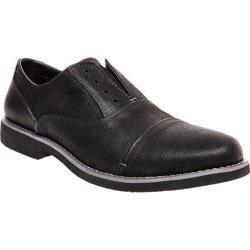 Men's Steve Madden Trofey Laceless Oxford Black Embossed Leather