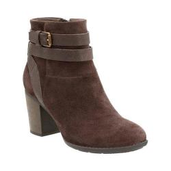Women's Clarks Enfield River Bootie Brown Cow Suede/Goat Full Grain Leather