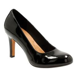 Women's Clarks Heavenly Star Pump Black Cow Patent Leather