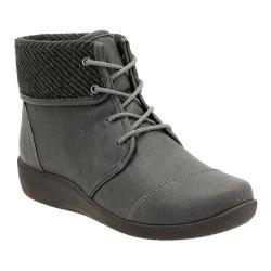 Women's Clarks Sillian Frey Ankle Boot Grey Synthetic Nubuck