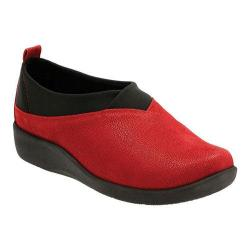 Women's Clarks Sillian Greer Slip-On Cherry Synthetic Nubuck