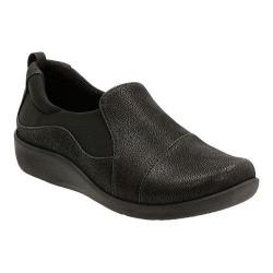 Women's Clarks Sillian Paz Slip-On Black Synthetic Nubuck