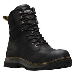 Men's Dr. Martens Spate EH Safety Toe Waterproof 8 Eye Boot Black Connection Waterproof