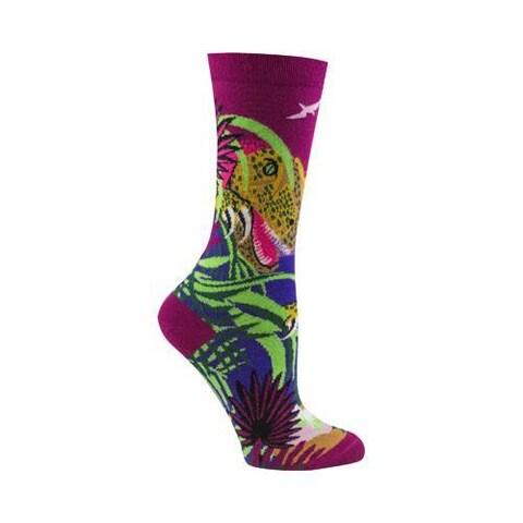 Women's Ozone T-Rex Crew Socks (2 Pairs) Eggplant
