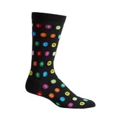 Men's Ozone Subway Route Symbols Socks (2 Pairs) Black