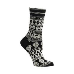 Women's Ozone Tribal Elements Crew Socks (2 Pairs) Black