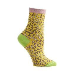 Women's Ozone Wavy Prints Crew Socks (2 Pairs) Sunflower