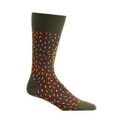 Men's Ozone Wavy Prints Socks (2 Pairs) Fougere