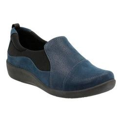 Women's Clarks Sillian Paz Slip-On Navy Synthetic Nubuck