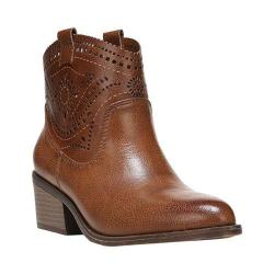 Women's Fergalicious Winchester Ankle Boot Cognac Synthetic Leather