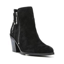 Women's Fergie Footwear Bianca Zipper Bootie Black Leather
