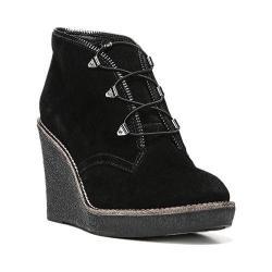 Women's Fergie Footwear Ophelia Wedge Bootie Black Suede