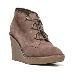 Women's Fergie Footwear Ophelia Wedge Bootie Taupe Suede