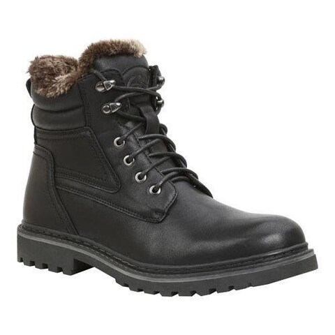 Men's GBX Lorcan Ankle Boot Black Semi Leather