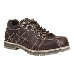 Men's GBX Garvey Lace Up Brown Emboss Tumbled Leather