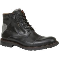 Men's GBX Tomson Cap Toe Boot Black Rino/Gray Suede