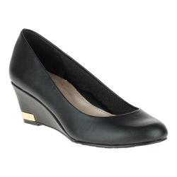 Women's Soft Style Gana Wedge Pump Black Leather