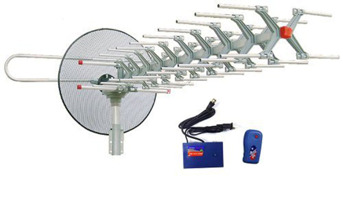 Motorized 360-degree Rotation Outdoor HDTV UHF/VHF/FM Radio Antenna With Infrared Remote Control