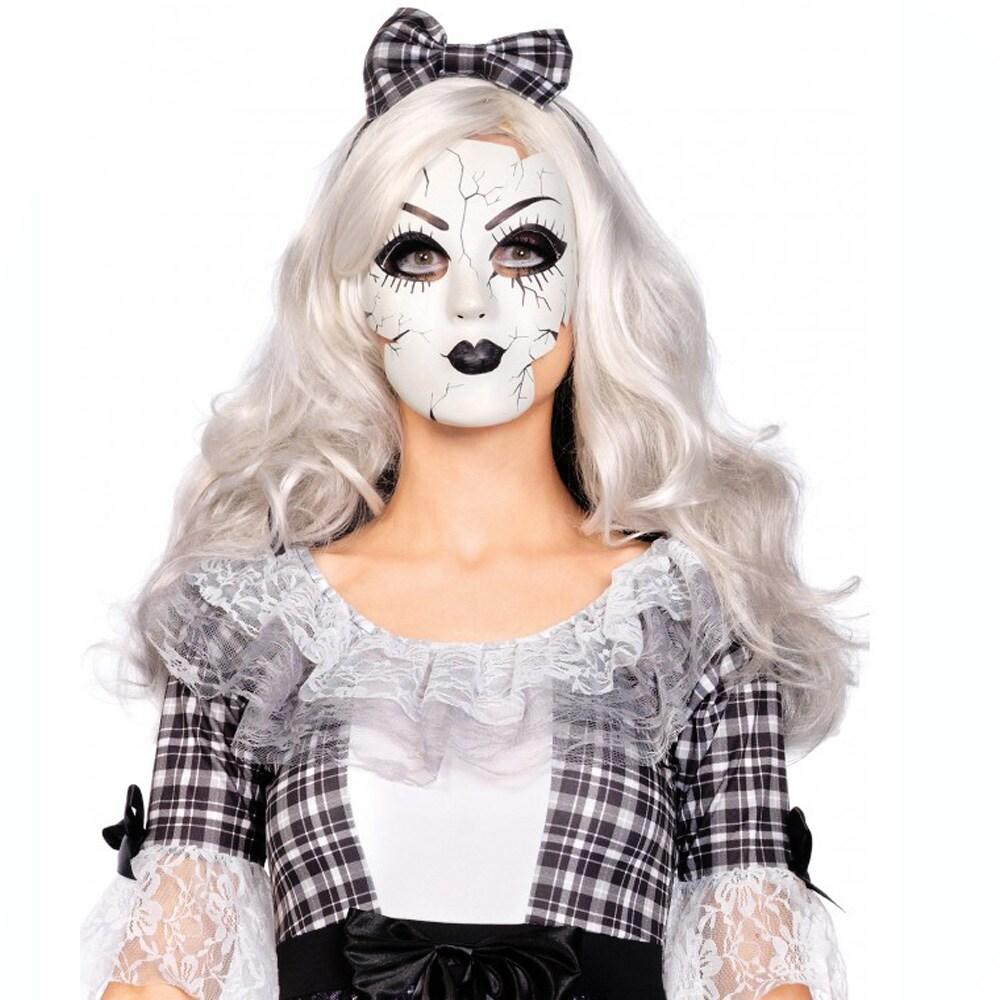 Leg Avenue Cracked Porcelain Polyester Doll Mask