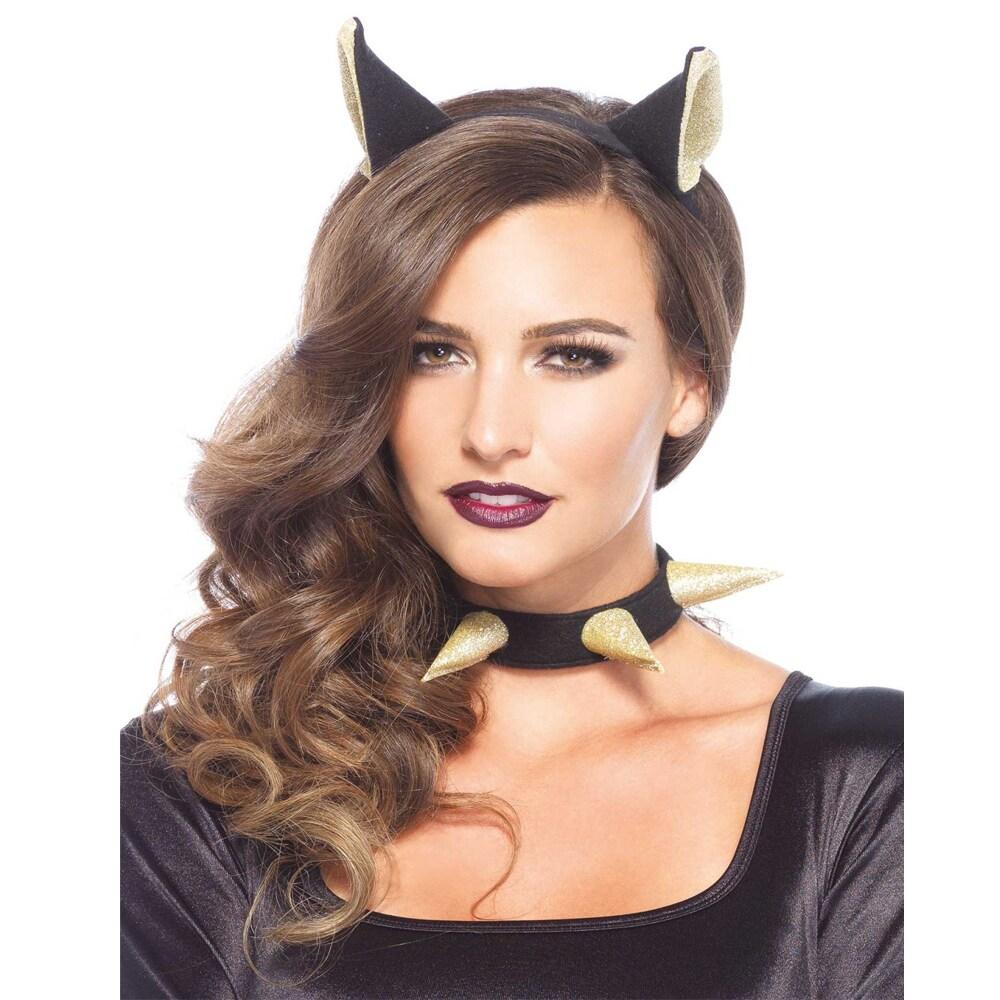 Leg Avenue Women's Bad Kitty Headband and Choker