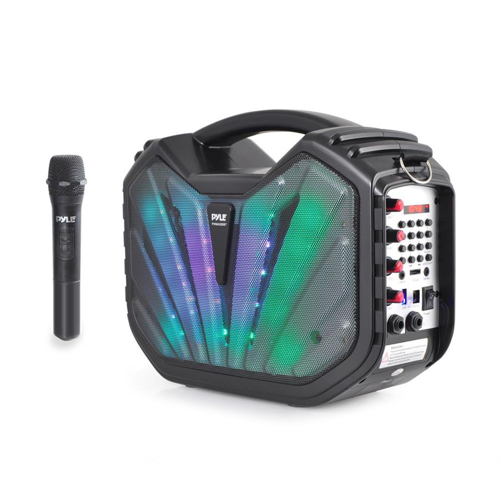 Pyle Portable Wireless Bluetooth Karaoke Speaker System
