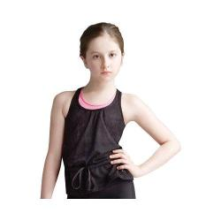 Girls' Capezio Dance Darina Tank Top Lace Black Roses