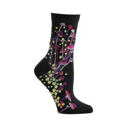 Women's Ozone Bioluminescent Spores Crew Socks (2 Pairs) Black