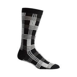 Men's Ozone Cascading Plaid Socks (2 Pairs) Black