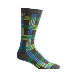 Men's Ozone Cascading Plaid Socks (2 Pairs) Grey