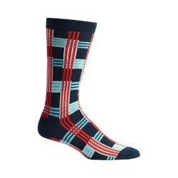 Men's Ozone Cascading Plaid Socks (2 Pairs) Navy
