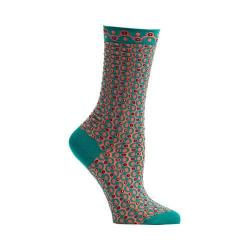 Women's Ozone Crescent Waves Crew Socks Green