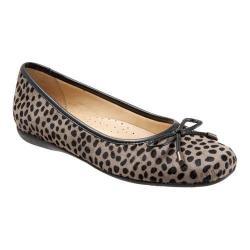 Women's Trotters Sante Ballet Flat Grey Cheetah