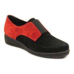 Women's VANELi Alfi Slip-On Black/Red Suede/Elastic