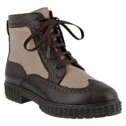 Women's Azura Manele Ankle Boot Brown Multi Tumbled Leather