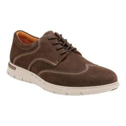 Men's Clarks Un.Byner Way Wing Tip Dark Brown Cow Nubuck