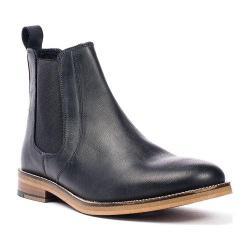 Men's Crevo Denham Chelsea Boot Black Leather