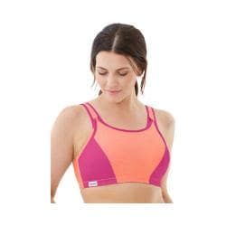 Women's Glamorise Double Layer Custom Control Bra Orange/Pink