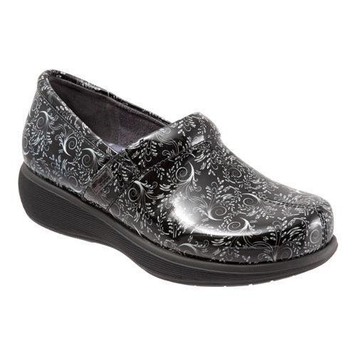 Women's SoftWalk Meredith Clog Black/White Printed Patent Leather