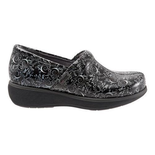 Women's SoftWalk Meredith Clog Black/White Printed Patent Leather - Thumbnail 1