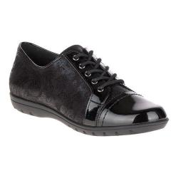 Women's Soft Style Valda Oxford Black Paisley Faux Suede/Black Patent
