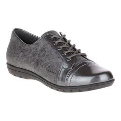 Women's Soft Style Valda Oxford Dark Grey Paisley Faux Suede/Pearlized Patent