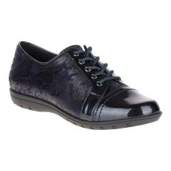 Women's Soft Style Valda Oxford Navy Paisley Faux Suede/Navy Pearlized Patent