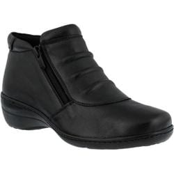 Women's Spring Step Briony Bootie Black Leather